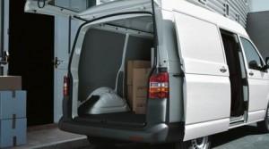 White van for parcels deliveries