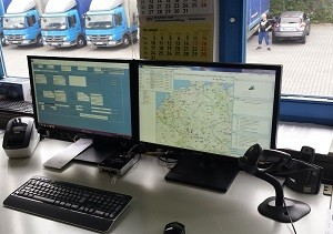computer screens areal control fleet management solution
