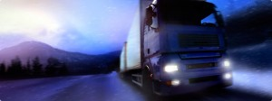 truck travelling by night